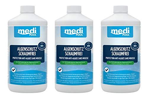 Medipool Algenschutz schaumfrei 3 x 1 Liter für Whirlpools und Pools mit Gegenstromanlage