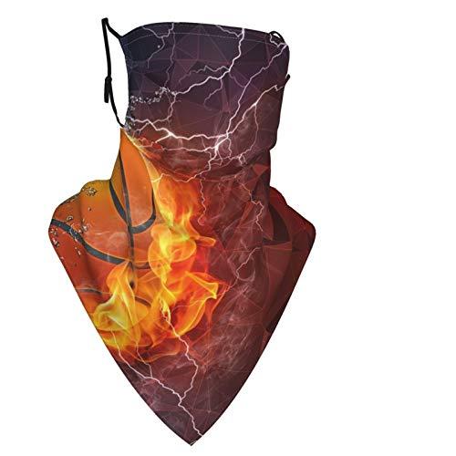 Pantalla Baloncesto reutilizable para hombres y mujeres, bufanda para la cabeza, pasamontañas, trabillas para las orejas, polainas para el cuello, para exteriores, deportes