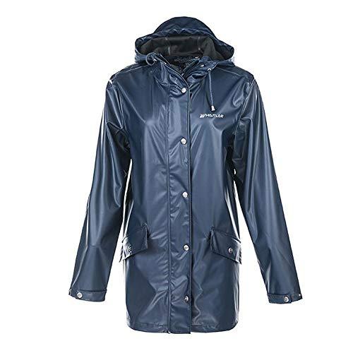 Whistler Penhurst Damen PU Long-Jacke mit Kapuze – Regenmantel Regenjacke Windbreaker für Outdoor, Festival, Camping, Trekking (Navy Blazer, 38)