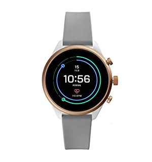 Fossil Women's Gen 4 Sport Heart Rate Metal and Silicone Touchscreen Smartwatch, Color: Rose Gold, Grey (FTW6025) (B07HBNZGND) | Amazon price tracker / tracking, Amazon price history charts, Amazon price watches, Amazon price drop alerts