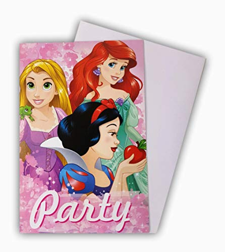 store Lizenzartikel 10 Einladungskarten Glückwunschkarten Kindergeburtstagskarten Disney Princess Deko