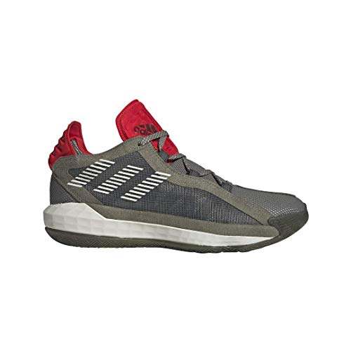Adidas Mens Dame 6 Running Shoes Green/Grey/Red 10.5
