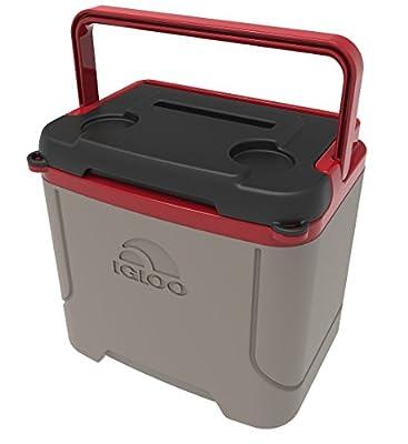 Igloo Profile 16 Quart Cooler, Sandstone/Blaze Red, 16 Qt / 15 Large / 24 Cans