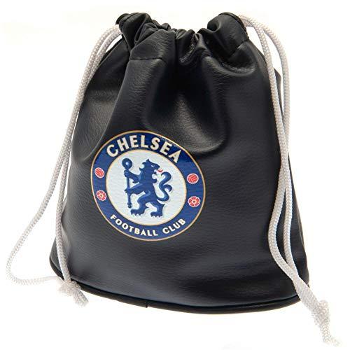 Chelsea FC Golf-Beutel mit Kordelzug, Emblem (Einheitsgröße) (Schwarz)