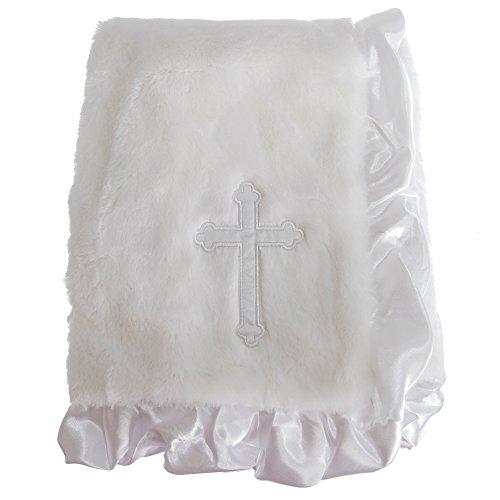Snuggle Baby - Couverture CHRISTENING (76 cm x 91 cm) (Blanc)