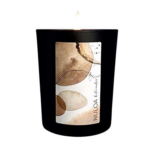 NULOA Duftkerze - Holzzauber (Sandelholz), bis 50h Brenndauer, 100% natürliches Wachs, nachhaltige Designkerze, hohe Duftkonzentration (10%), 180g