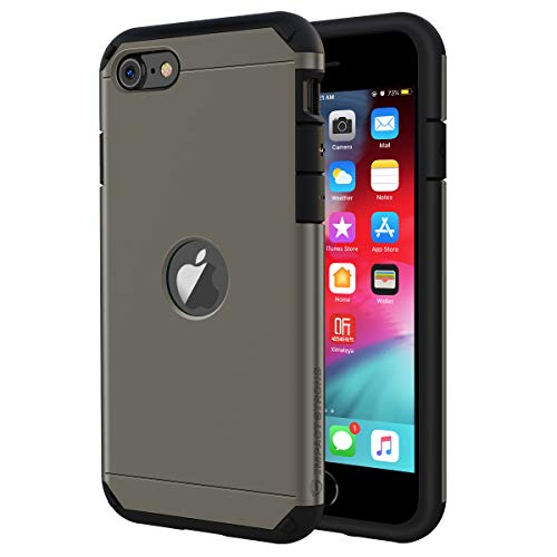ImpactStrong iPhone SE 2020 Case, Slim Heavy Duty Dual Layer Protection Cover Heavy Duty Case for Apple iPhone SE 2020 (Gun Metal)