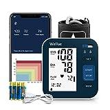 Tensiómetro de Brazo Bluetooth con Aplicación Inteligente, Aparato para Medir la Tension Arterial Automático Digital con Manguito Grande de 9-16 pulgadas, 2 * 120 de Memoria