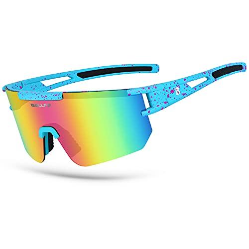 BOLLFO Cycling Sunglasses, UV 400 Eye Protection...