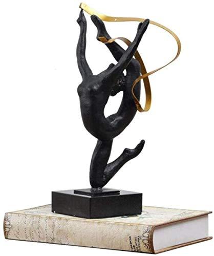 YsKYCA Estatua Escultura Decoración,Accesorios De Adorno De Estatuilla 44 Cm Gimnasia Clásica Bailarines Figura Deportiva Figuras Metal Craft Home Gymnasium Accesorios