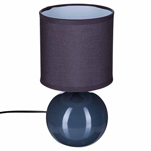 Paris Prix Atmosphera Créateur d'intérieur - Lampe à Poser Céramique Boule 25cm Gris