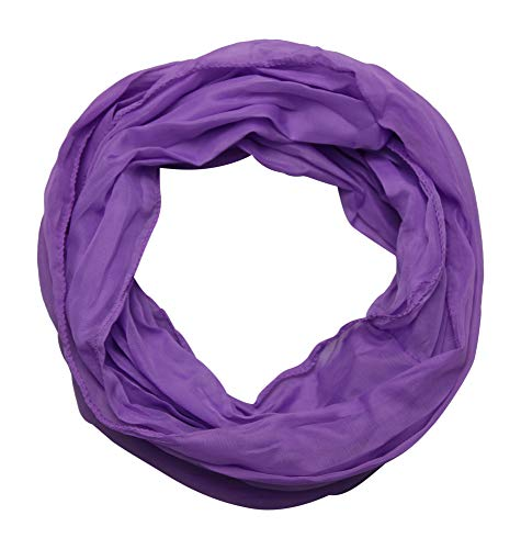 ACC Damen Seide Loop Schal leicht unifarben (lila)