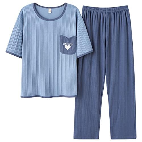 SY-Alisa Conjunto de Pijamas de Verano para Mujer, cómodos y Coloridos Pijamas...