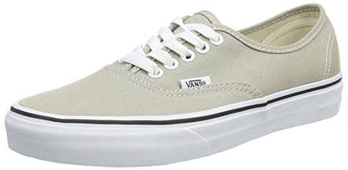 Vans U AUTHENTIC Grau (aluminum/true white),  Unisex-Erwachsene Sneakers, Grau (aluminum/true white),, 42