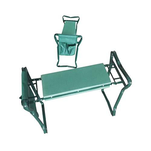 IYSHOUGONG 1 x Garten-Kniesitz, Gartenbank, Gartenhocker, zusammenklappbar, tragbar, Knieschoner, Schaumstoff-Stuhl, gepolsterter Hocker mit Tasche für den Garten