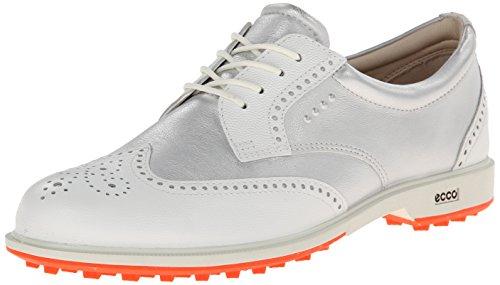 Ecco Women's Classic Golf Hybrid - Zapatos de Golf para Mujer, Color Blanco/Azul, Talla 41