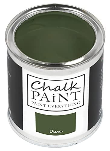Chalk Paint Oliva 750 ml – Sin lijar, colorea fácilmente todos los materiales