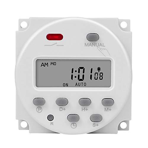 Peanutaoc - Temporizador programable de 7 días con función de Cuenta atrás, Temporizador, instalación de Temporizador, Cable Antipolvo, Temporizador por Segundo