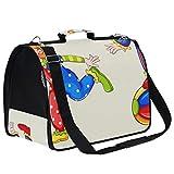 AMONKA Playful Clowns Pet Carriers para gatos pequeños y medianos perros bolsa de viaje plegable con alfombrilla de repuesto cómoda