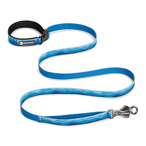 Ruffwear Hundeleine, Taillengürtel zum Laufen, Spazierengehen oder Wandern, Alle Hunderassen, Länge: 1,8 m, Breite: 25 mm, Blau (Blue Mountains), Flat Out Leash