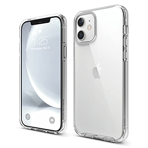 elago Hybrid Clear Case Compatible with iPhone 12 Case and Compatible with iPhone 12 Pro Case 6.1 Inch (Transparent) - Shockproof Bumper Cover Protective Case