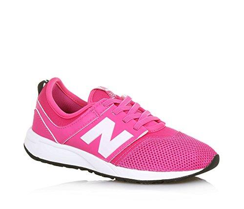 NEW BALANCE - Pink Sportschuh 274 preschool mit Schnürsenkeln, aus Synthetik und Mikrofaser, elastische Schnürsenkel, Mädchen-28,5