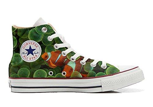 MYS Schuhe Custom Sneakers American USA, personalisierte Schuhe (Handwerk Produkt Customized) Goldfisch - Size EU 39