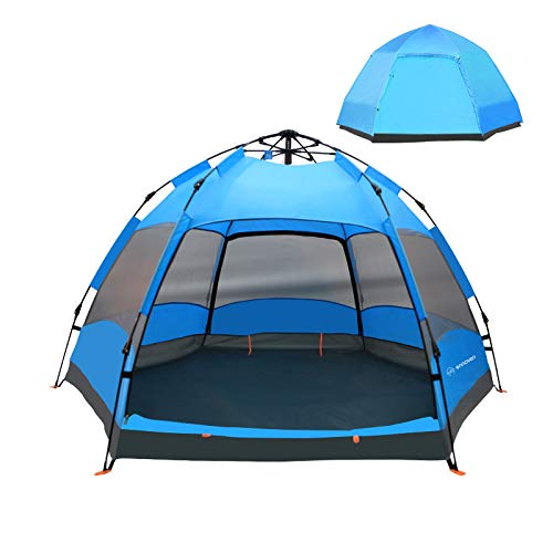 Ennoven Tents for Camping- Instant Tent, Waterproof Camping Tent, Easy Quick Set Up Tent, Perfect for Adult Outdoor, Hunting, Fishing, Hiking, Backpacking (Blue,5-6 Person).