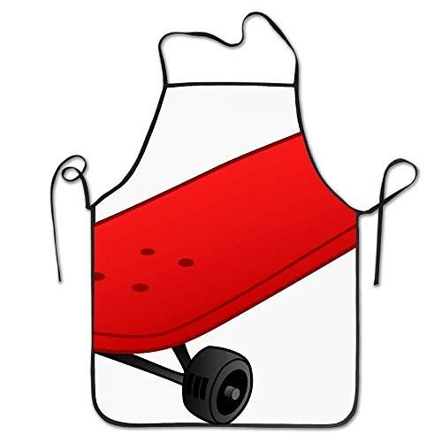heefan Red Skateboard Deluxe Personalized Kitchen Apron