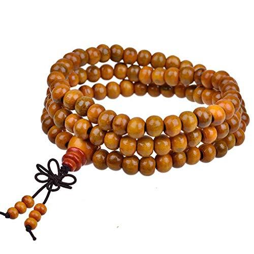 #N/A ZNMUCg Multi Capa Retro Buda Beads Pulsera Creativa Enlace Muñeca Collar Para Día de San Valentín, madera, Nudo de Dalbergia, as show