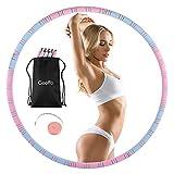 Fitness Hula - Aro para adultos (1,2 kg, desmontable, 8 piezas, con núcleo de acero inoxidable)