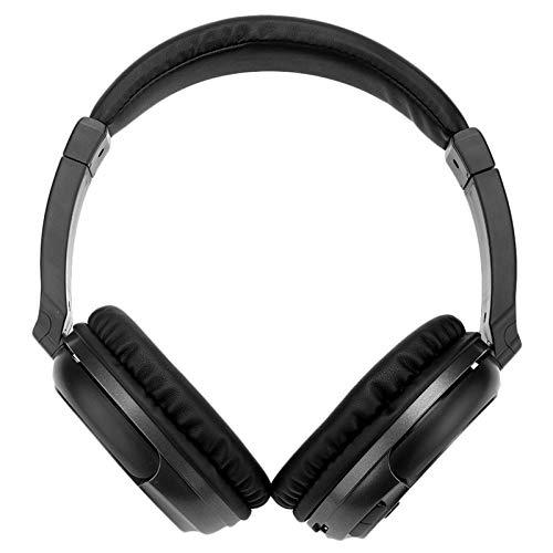 YUIX Wireless Headphones Stereo Super Bass RF-ontvanger met USB Zender Tv headsets for Computer (Color : Black)