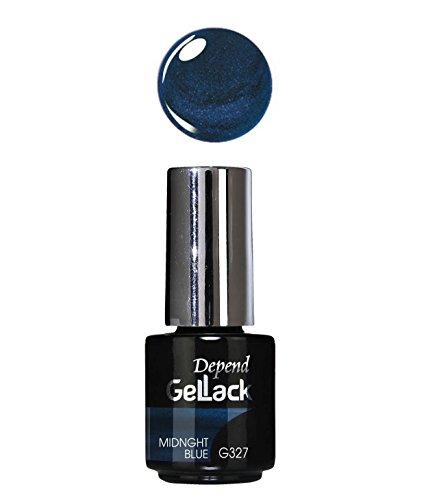 Depend GelLack - Esmalte permanente, tono Midnight Blue
