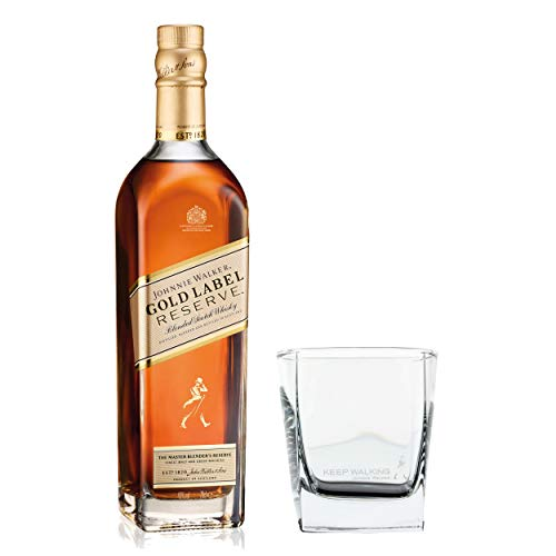 Johnnie Walker Gold Label Reserve Set mit Tumbler Glas, Blended Whisky, Scotch, Alkohol, Flasche, 40%, 700 ml
