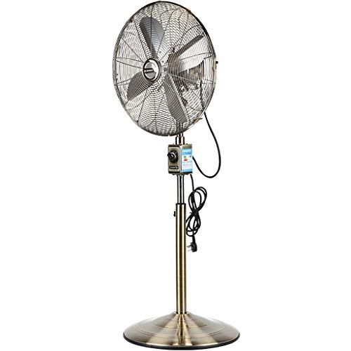 LP Fans Oszillierende Metallpodest-VentilatorküHlung, Retro Dekorativer Stehender Hochleistungsbodenventilator, FüR Schlafzimmer-BüRo-GeschäFts-Haus