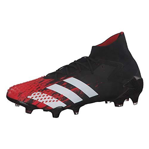 adidas Herren Predator Mutator 20.1 Firm Ground Fußballschuh, CBLACK/FTWWHT/ACTRED