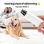 Meuleuses à ongles pour chien, coupe-ongles rechargeable, lime à ongles pour animaux de compagnie à faible bruit à 2 vitesses, meulage rapide pour le soin des griffes petit à moyen chien #2
