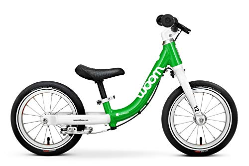 """woom 1 Balance Bike 12"""", Ages 18 Months to 3.5 Years, Green"""