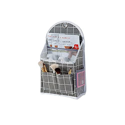 Mabor - Borsa portaoggetti da appendere alla parete, in tessuto, da appendere alla porta, organizer da parete, in tessuto di cotone, per camera da letto, bagno, cucina