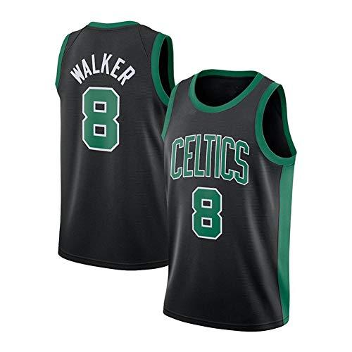 DDOYY New Celtics # 8 Kemba Walker Jersey, Chaleco deportivo para hombre, espacioso y cómodo, S-2XL, negro, blanco, verde, negro y XL