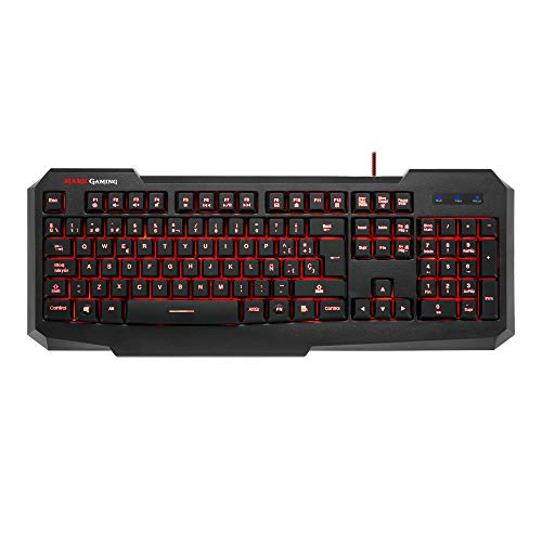 Mars Gaming MK116 - Teclado gaming para PC (personalización avanzada adaptada a tus necesidades, programación exclusiva, capacidad anti-ghosting, retroiluminado 7 colores), color negro