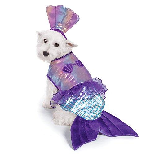 Zack & Zoey iriserende zeemeermin kostuum voor honden