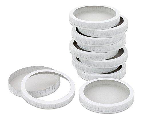 Folia 995 - Boîtes à fromage, diamètre, 15,3 cm, 10 paires, blanc