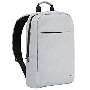 MoKo Laptop Backpack Multipurpose Slim Computer Bag Notebook Daypacks Lightweight Travel Backpack Business School Bag fits up to 15.6 Inch ACER ASUS Samsung MacBook Surface Tablet - Light Gray