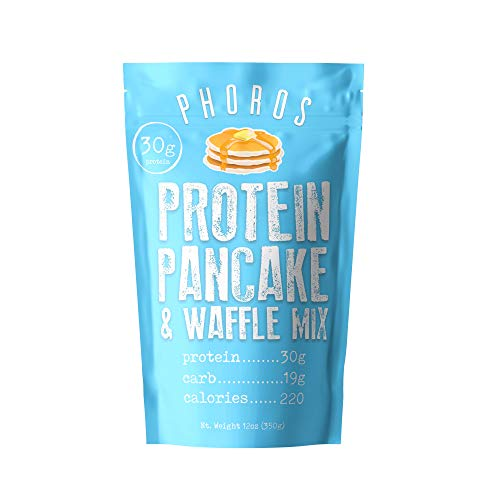 Protein Pancake & Waffle Mix by Phoros Nutrition, Low Carb, High Protein, Low Glycemic, Keto-Friendly, Just Add Water (Original)