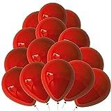 Globos Rojos 100 Piezas Globos Decorativos Rojos Fiesta Rojos Globos Látex Rojo Puro 10 Pulgadas para Fiestas Infantiles, Bodas, Fiestas de Bebés,Navidad