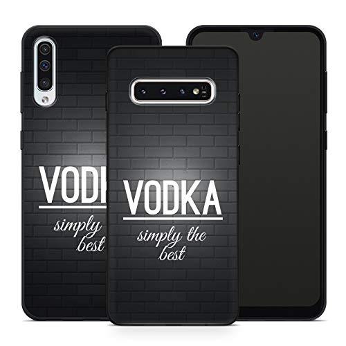 Handyhülle Bier für Samsung Silikon MMM Belrin Hülle Saufen Vodka Party Trinken Spruch Sprüche, Hüllendesign:Design 4   Silikon Schwarz, Kompatibel mit Handy:Samsung Galaxy A71