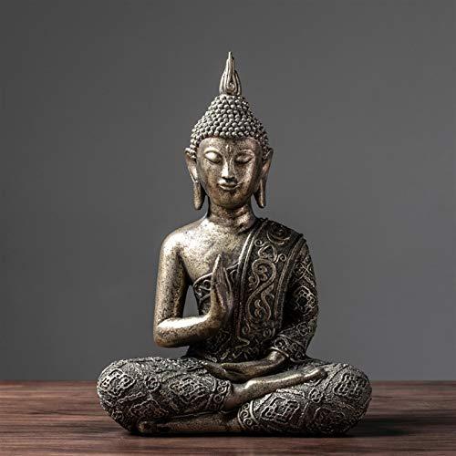 KGDC Buddha Statue Blessing Buddha Statue Buddha Statue for Home Meditation Gift 13 Inches Tall Zen Meditation Statue -  chenjingshop, 1988