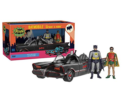 Funko Mozlly Multipack DC Comics Batman 1966 Serie de TV and Robin 3.75 Pulgadas Figuras con 10.75 Batmóvil Vehicle- Coleccionable Juguete (3 Piezas Set) (Pack 6) - Producto #S120018 _ X6