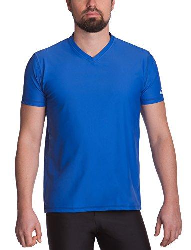 iQ-UV Herren 300 Regular geschnitten, V-Ausschnitt, UV-Schutz T-Shirt, Dark-Blue, M (50)
